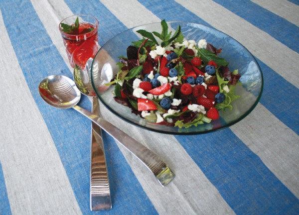 Colorful Red, White and Blueberry Salad