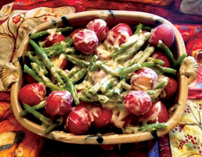 So-Country Creamed New Potatoes & Green Beans