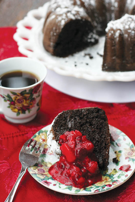 Valentine's Day Chocolate Pudding Cake