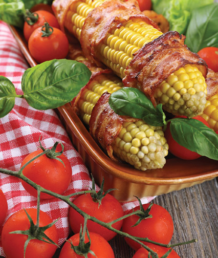 Grilled Bacon Corn on the Cob