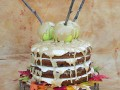 Fall Applesauce Spice Cake with Maple Buttercream Icing