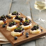 3 Blueberry Crostinis