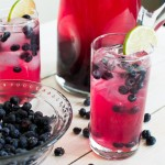 7 Sparkling Blueberry Lime Tequila Punch