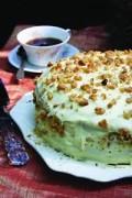Black Walnut Apple Cake