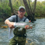 Greg Dunn catches a Rainbow Trout