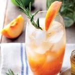 Peach Rosemary Fizz