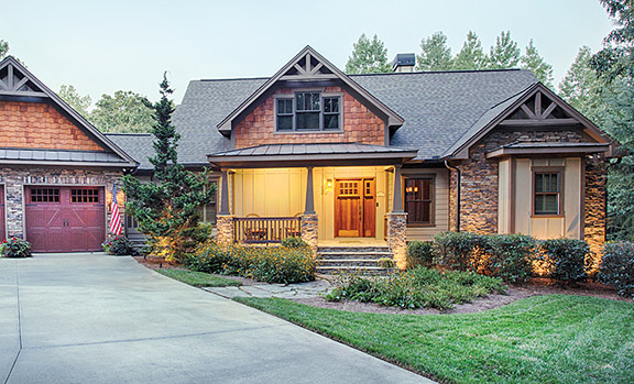 Craftsman homes in majestic ellijay at covered bridge for Craftsman style home builders atlanta